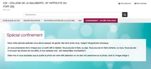 Screenshot_2020-05-25 CDI - COLLEGE DE LA GALABERTE - ST HIPPOLYTE DU FORT (30) Spécial confinement